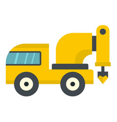 Yellow drilling machine icon isolated vector