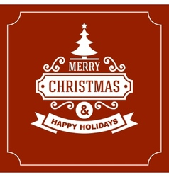 Christmas Retro Typographic Background vector image