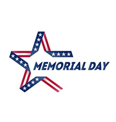 Memorial Day star made of ribbon in national flag vector image vector image