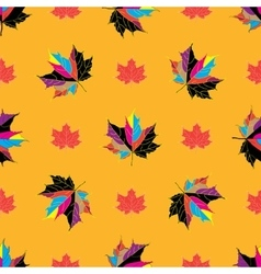 seamless background of autumnal leaves vector image