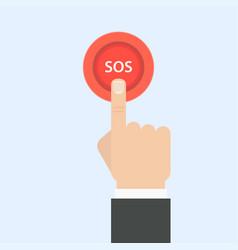 sos button vector image vector image
