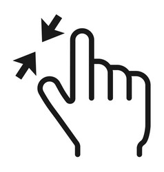 2 finger zoom out line icon touch and gesture vector image vector image