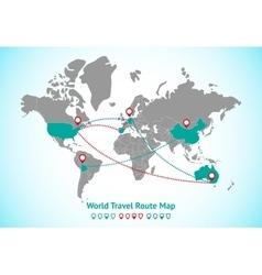 Earth map GPS vector image