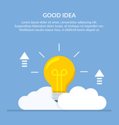Good idea concept with a big vector