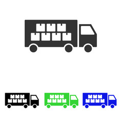 goods transportation truck flat icon vector image vector image