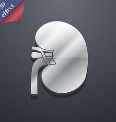 Kidney icon symbol 3D style Trendy modern design vector image