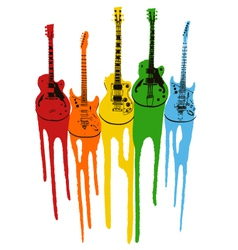music guitar in rainbow colour vector image vector image