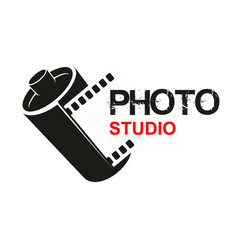 photo studio camera film icon vector image