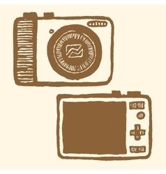 pocket-size digital camera vector image vector image