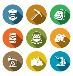 Set of Geology Icons Geologist Instrument vector image vector image