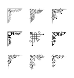 Vintage corners vector image
