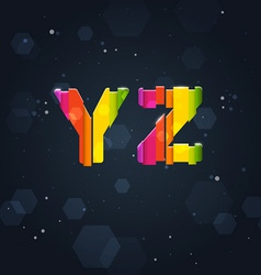 Abstract Rainbow Font Y-Z vector image