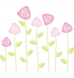 abstract roses vector image vector image