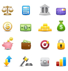 Business and finance money Icons vector image