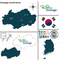 gwangju metropolitan city south korea vector image