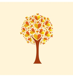heart-shaped leaves vector image vector image