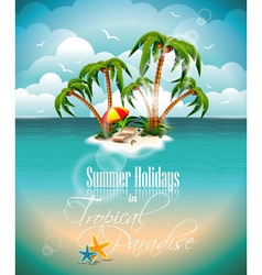On a summer holiday theme with paradi vector
