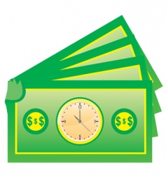 times is money vector image vector image