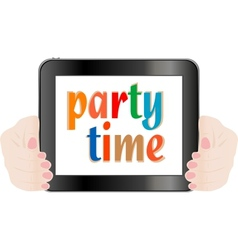 touchpad pc tablet vector image vector image