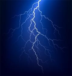 lightning bolt at night vector image vector image