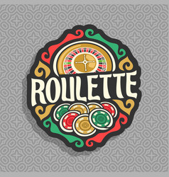 logo for roulette gamble vector image vector image