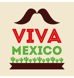 mexican icon design vector image