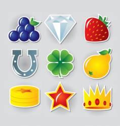 slot symbols set vector image