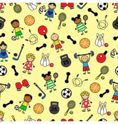sport equipment and Children vector image