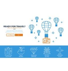 Travel website template vector image