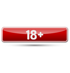 18 adult only - abstract beautiful button with vector