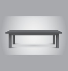 3d table for object presentation empty dark top vector image