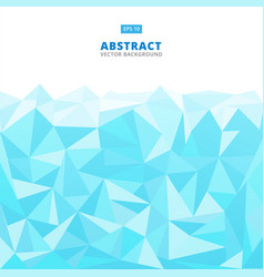 abstract geometric blue turquoise and white vector image
