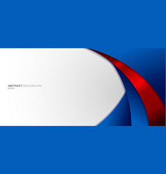 Abstract modern blue and red gradient curved vector