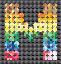 Alphabet colorful mosaic vector