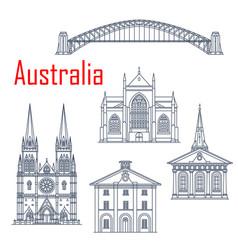 Australian travel landmarks set vector