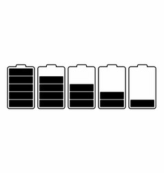 batteries charge levels vector image