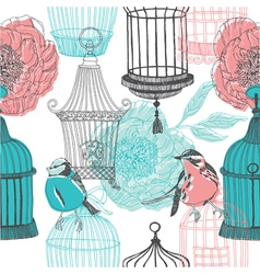 Birdcage screenprints vector