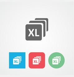 Bundles flat icon size extra large large vector