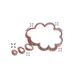 cartoon speech bubble icon in comic style hand vector image