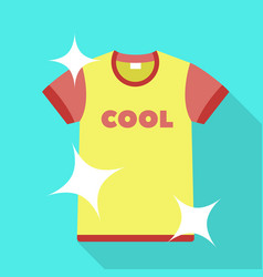 clean tshirt icon flat style vector image