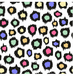 colorful leopard pattern seamless background vector image