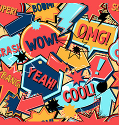 comics seamless pattern background vector image