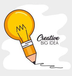 creative big idea set icons vector image