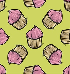 Cupcake Patterned Background vector