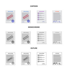 Design form and document sign vector