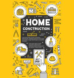diy tools thin line design home repair service vector image