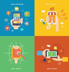 Element of mobile payment application and vector image