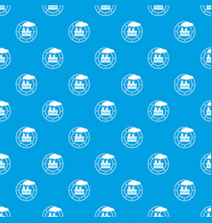 factory pattern seamless blue vector image