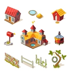 Farm Elements Collection vector