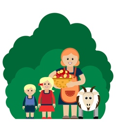 Farm family vector